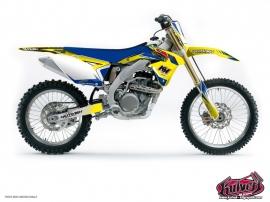 Suzuki 250 RM Dirt Bike Pulsar Graphic Kit Blue