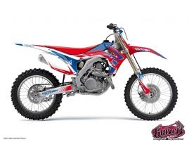 Honda 125 CR Dirt Bike Pulsar Graphic Kit Blue