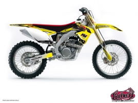 Suzuki 450 RMX Dirt Bike Pulsar Graphic Kit Black