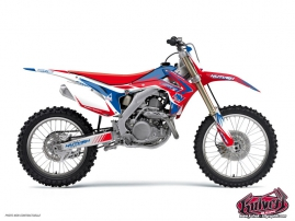 Honda 85 CR Dirt Bike Pulsar Graphic Kit Blue