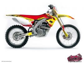 Suzuki 85 RM Dirt Bike Pulsar Graphic Kit Red