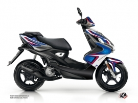 Yamaha Aerox Scooter Race Graphic Kit Blue