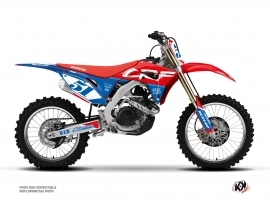 Honda 450 CRF Dirt Bike Rask Graphic Kit Blue