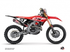 Honda 450 CRF Dirt Bike Rask Graphic Kit Black