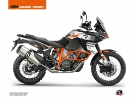 KTM 1090 Adventure R Street Bike Raster Graphic Kit Black White