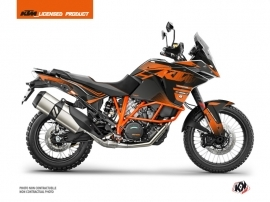 KTM 1090 Adventure R Street Bike Raster Graphic Kit Black Orange