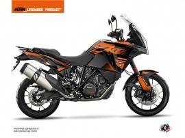 KTM 1290 Super Adventure S Street Bike Raster Graphic Kit Black Orange