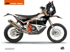 KTM 450 Rally Dirtbike Raster Graphic Kit Black White