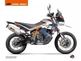 KTM 790 Adventure R Street Bike Raster Graphic Kit Blue Orange