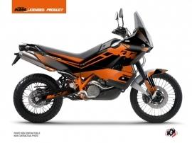 Kit Déco Moto Raster KTM 990 Adventure Noir Orange