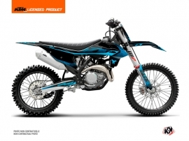 KTM 250 SXF Dirt Bike Replica Thomas Corsi 2020 Graphic Kit Black Blue