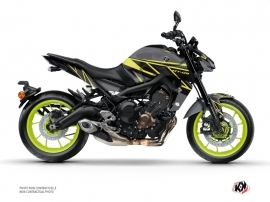 Yamaha MT 09 Street Bike Replica Graphic Kit Black Yellow