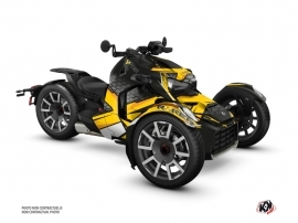 Can Am Ryker 600 900 Rally Edition Roadster Replica Graphic Kit Yellow