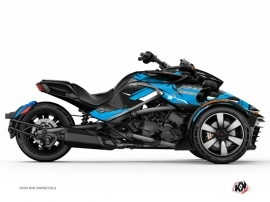 Can Am Spyder F3 Roadster Replica Graphic Kit Blue Kutvek Kit Graphik