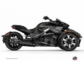 Can Am Spyder F3 Roadster Replica Graphic Kit Black Grey