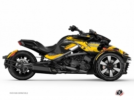 Can Am Spyder F3T Roadster Replica Graphic Kit Yellow