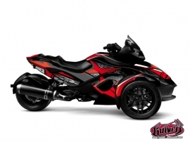 Can Am Spyder RT Roadster Replica Graphic Kit Red