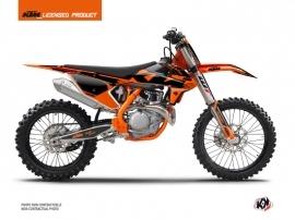 KTM 250 SXF Dirt Bike Retro Graphic Kit Orange