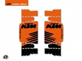 Kit Deco Radiator guards Retro KTM EXC-EXCF 2017 Orange