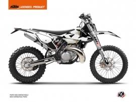 KTM EXC-EXCF Dirt Bike Retro Graphic Kit Black