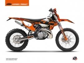KTM EXC-EXCF Dirt Bike Retro Graphic Kit Orange