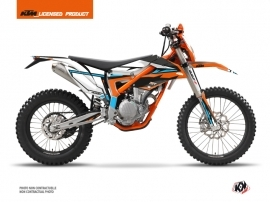 KTM 250 FREERIDE Dirt Bike Rift Graphic Kit Orange Blue