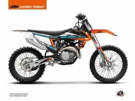 KTM 300 XC Dirt Bike Rift Graphic Kit Orange Blue