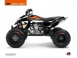 KTM 450-525 SX ATV Rift Graphic Kit Black Orange