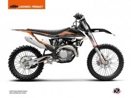 KTM 450 SXF Dirt Bike Rift Graphic Kit Black Orange
