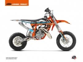 KTM 50 SX Dirt Bike Rift Graphic Kit Orange Blue