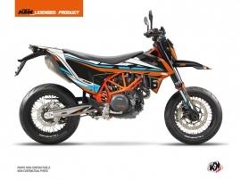 KTM 690 SMC R Street Bike Rift Graphic Kit Orange Blue