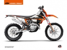 KTM EXC-EXCF Dirt Bike Rift Graphic Kit Orange Black