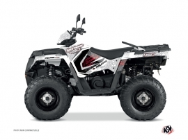 Polaris 450 Sportsman ATV Rock Graphic Kit White