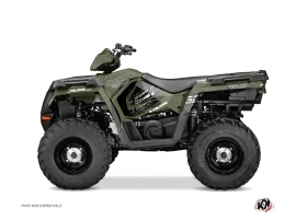 Polaris 450 Sportsman ATV Rock Graphic Kit Green