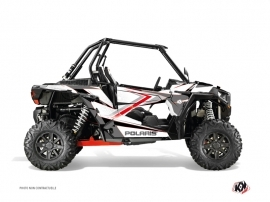 Polaris RZR 1000 UTV Rock Graphic Kit White Red