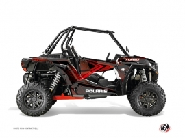 Polaris RZR 1000 Turbo UTV Rock Graphic Kit Black Red