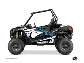 Polaris RZR 900 UTV Rock Graphic Kit White Blue