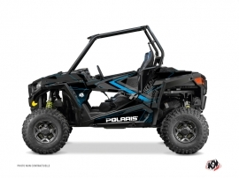 Polaris RZR 900 UTV Rock Graphic Kit Black Blue