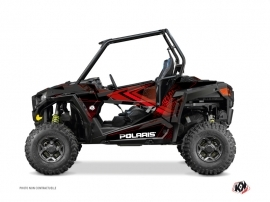 Polaris RZR 900 S UTV Rock Graphic Kit Black Red