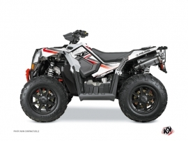 Polaris Scrambler 850-1000 XP ATV Rock Graphic Kit White Red