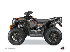 Polaris Scrambler 850-1000 XP ATV Rock Graphic Kit Black Orange