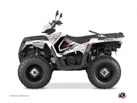 Polaris 570 Sportsman Touring ATV Rock Graphic Kit White
