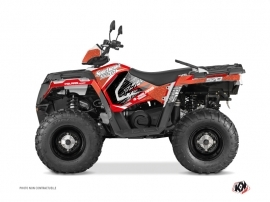Polaris 570 Sportsman Touring ATV Rock Graphic Kit Red