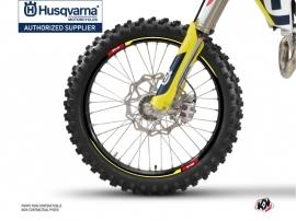 Graphic Kit Wheel decals Rocky Dirt Bike Husqvarna TC-FC TE-FE Black