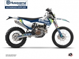 Husqvarna 250 TE Dirt Bike Rocky Graphic Kit Blue