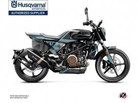 Husqvarna Svartpilen 701 Street Bike Sekment Graphic Kit Black Blue