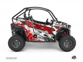 Polaris RZR Trail S UTV v Graphic Kit Red