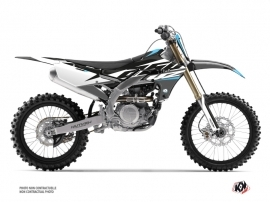 Yamaha 250 YZF Dirt Bike Skew Graphic Kit Grey