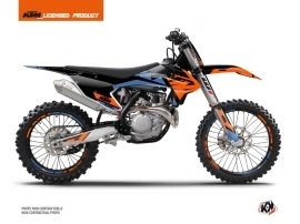 KTM 250 SXF Dirt Bike Skyline Graphic Kit Blue