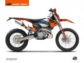 KTM EXC-EXCF Dirt Bike Skyline Graphic Kit Blue